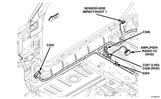 2006 pt cruiser  cylinder  dash says passenger  seat belt