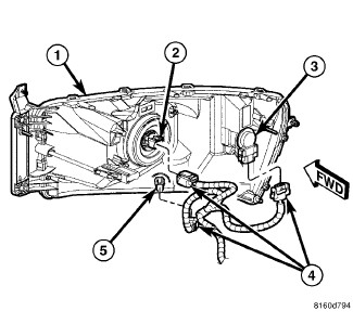 2z1e4 Remove Head Light Assembly 2006 Dodge 3500 on headlight socket wiring diagram