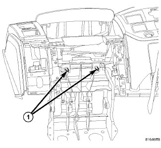 heater flap in dash problem dodge ram forum ram forums owners 99 Ram Dash 8 remove the two bolts 1 that secure the steering column support bracket to the instrument panel