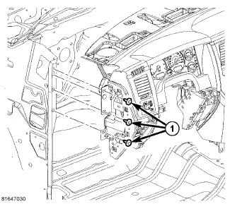Dodge Caravan Air Bag Sensor Location