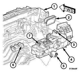 dodge caravan air conditioning diagram with Heater Blend Door Location 07 Dodge Nitro on 98 Camery Vacuum Lines 51185 besides 3kws8 Low Pressure Cutoff Switch A C 2002 in addition Watch further Ford Thunderbird 1995 Ford Thunderbird How To Change Heater Core moreover 2000 Daewoo Leganza Serpentine Belt Diagram.
