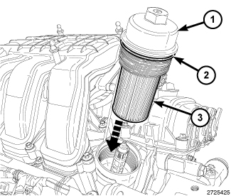 Where Oil Filter 2012 3 6l 73188 on dodge grand caravan parts diagram