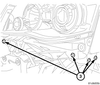 2xut1 2008 Chrysler Headlight Bulb Touring Van Not Hid Unit Harness