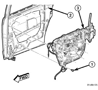 305133 Power Sliding Rear Door Lock on dodge ram power window wiring diagram