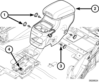 366820 2014 Durango 2nd Row Center Console Removal on dodge durango electrical diagram